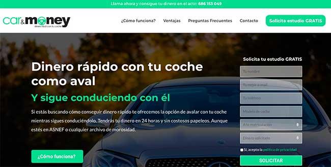 diseño web empeño coches